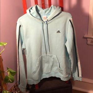 Adidas baby blue hoodie